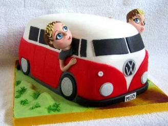 VW Bus Cake + Peeps